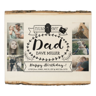 Instagram Photo Dad Birthday Father Number 1 Pops Wood Panel