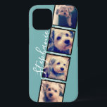 """Instagram Photo Display - 4 photos film strip iPhone 12 Case<br><div class=""""desc"""">Use photos with frames on this one! Add your favorite photos to this strip for a fun memory keeper. An artistic way to display your best photo sharing pics.</div>"""