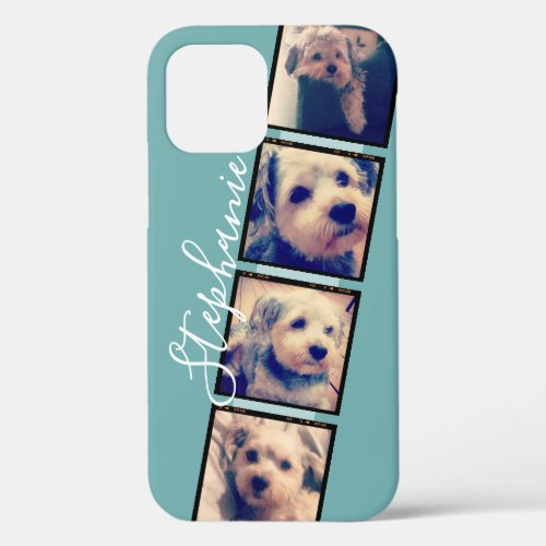 Instagram Photo Display - 4 photos film strip iPhone 12 Case