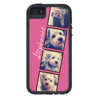 Instagram Photo Display - 4 photos pink name Case For iPhone SE/5/5s