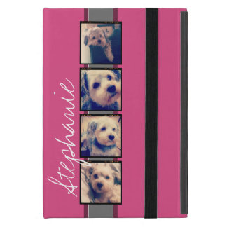 Instagram Photo Display - 4 photos pink name iPad Mini Covers