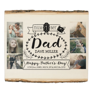 Instagram Photo Father's Day Number 1 Dad Pictures Wood Panel
