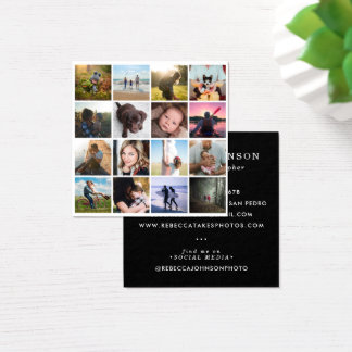 Instagram Photo Grid Lifestyle Photography Square Business Card