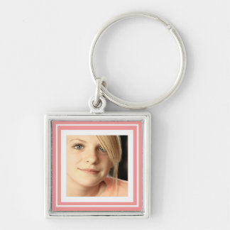 Instagram Photo in Squares matching background Silver-Colored Square Keychain