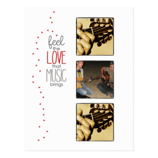 instagram photo music inspirational postcard