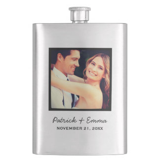 Instagram Photo Personalized Wedding Keepsake Flask