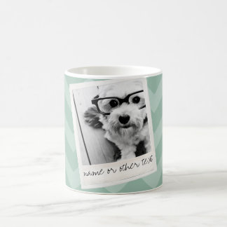 Instagram Photo Retro frame Custom Text Mint Green Coffee Mug