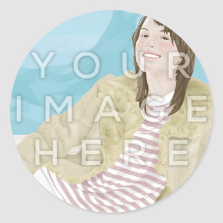 Instagram Photo Round Image Stickers