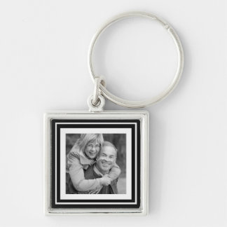 Instagram Photo Squares Choose Background Color Keychain