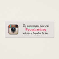 Instagram Photos Hashtag Wedding Insert Card
