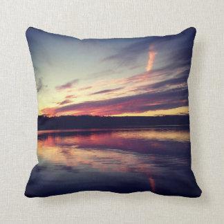 Instagram Pillow: Sunset on a Lake Pillow