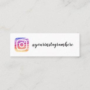 instagram social media modern trendy business card
