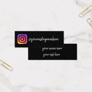 Social media business cards templates zazzle instagram social media modern trendy business card flashek Image collections