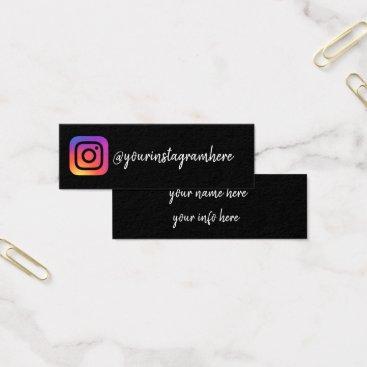 TwoTravelledTeens instagram social media modern trendy business card