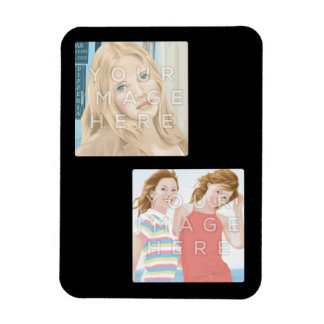 Instagram Two Photo Personalized Custom Magnet