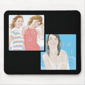 Instagram Two Photo Personalized Custom Mousepads