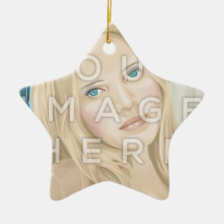 Instagram Two Photo Star-Shaped Image Ornament