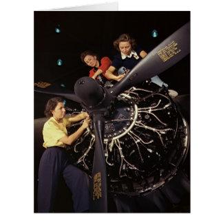 Instalación 1942 del motor de avión tarjeta