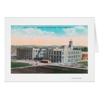 Instalación de envasado de la asociación de la pas tarjeta de felicitación