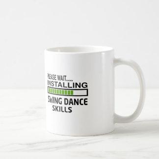 Instalación de habilidades de la danza del tazas de café