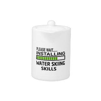 Instalación de habilidades del esquí acuático