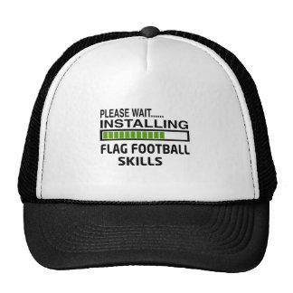 Instalación de habilidades del fútbol de bandera gorras