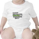 Instalación de habilidades del tenis trajes de bebé