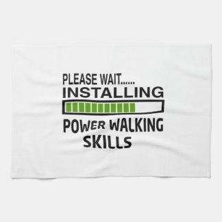 Instalación de habilidades que caminan del poder toalla