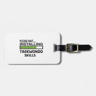 Instalación de las habilidades del Taekwondo Etiquetas Bolsas