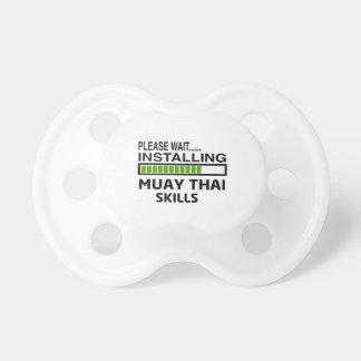 Instalación de las habilidades tailandesas de Muay Chupetes De Bebe