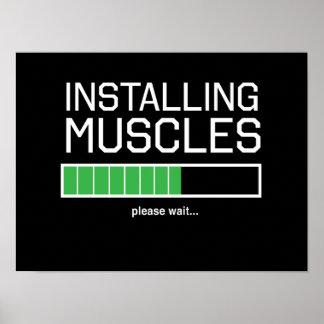 Instalación de los músculos póster