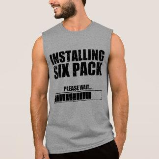 Instalación de seis paquetes camisetas sin mangas