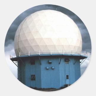Instalación normanda del radar Doppler Pegatina Redonda