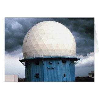 Instalación normanda del radar Doppler Tarjeta De Felicitación