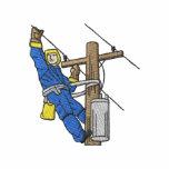 Instalador de líneas chaqueta de entrenamiento