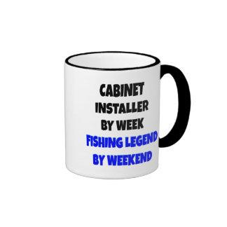 Instalador del gabinete de la leyenda de la pesca taza a dos colores