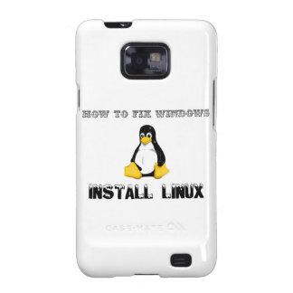 Instale Linux Galaxy SII Carcasa