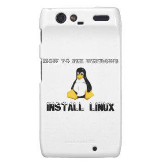Install Linux Motorola Droid RAZR Cases
