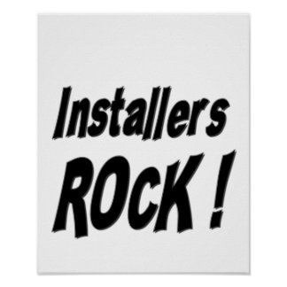 Installers Rock! Poster Print