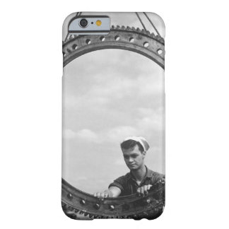 """Installing a bearing ring on a 5"""" gun_War image Barely There iPhone 6 Case"""