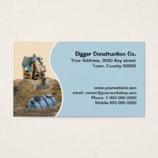 Installing a black septic tank business card