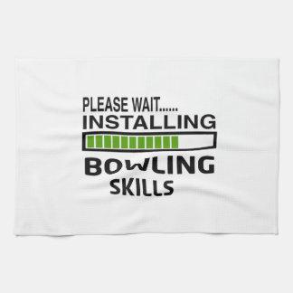 Installing Bowling Skills Kitchen Towel