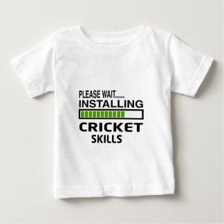 Installing Cricket Skills T Shirts
