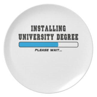installing degree melamine plate