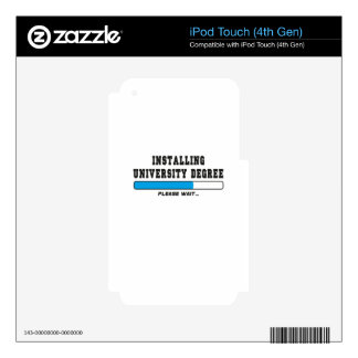 installing degree skins for iPod touch 4G