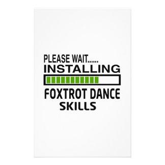 Installing Foxtrot Dance Skills Stationery Paper