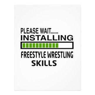 Installing Freestyle Wrestling Skills Letterhead