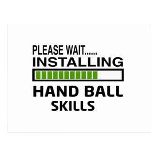 Installing Hand Ball Skills Postcard