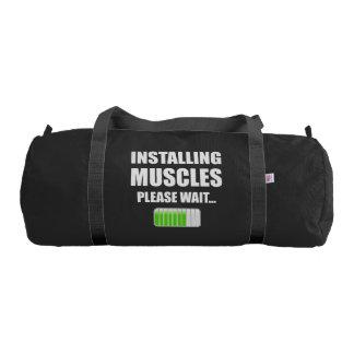 Installing Muscles Please Wait Duffle Bag
