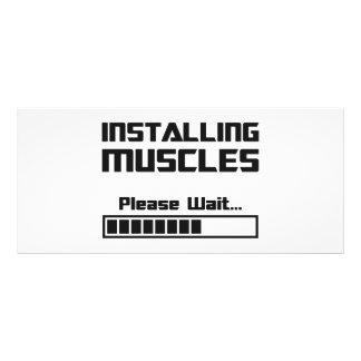 Installing Muscles Please Wait Loading Bar Rack Card